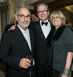 © Licensed to London News Pictures. 09/12/2014.LONDON UK. Alan Yentob, Harry Enfield,Rachel Johnson<br /> <br /> Media Society Annual Dinner 2014. Alan Yentob, Creative Director of the BBC, received the Media Society award honouring his diverse career in broadcasting at the Society's annual dinner, held at the Millennium Hotel Mayfair, London. Photo credit : ANDREW BAKER/LNP