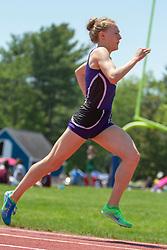 Bethanie Brown, Waterville, senior, girls 1600 meters; Maine State Track & Field Meet - Class B