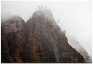 Zion National Park, UT 11/4/2015<br /> Snowfall at Weeping Rock<br /> Alex Jones / www.alexjonesphoto.com