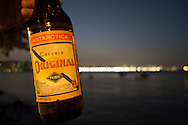 A ncie cold beer from the Bar Urca just outside the England training base in Urca, Rio de Janeiro, Brazil. Photo by Andrew Tobin/Tobinators Ltd