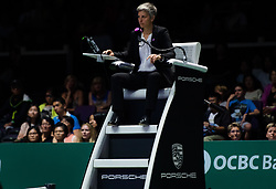 October 26, 2018 - Kallang, SINGAPORE - Marija Cicak at the 2018 WTA Finals tennis tournament (Credit Image: © AFP7 via ZUMA Wire)