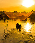 Aug 2017, Hoi An: Romance on the Thu Bon River from a row boat in Old Town. RAW to Jpg