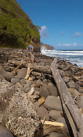 Beach at Waipi'o Valley, Big Island Hawaii. Image taken with Nikon D2xs and 12-24 mm f/4 (ISO 100, 17 mm, f/11, 1/200 sec). Raw image converted with Capture One Pro 5.