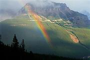 Rainbow. Icefields Parkway. Near Peyto Lake. Banff National Park<br />Banff National Park<br />Alberta<br />Canada