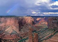 Rainbow over the Painted Desert - Arizona.