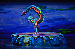 © Licensed to London News Pictures. 11/01/2019. London, UK. Performers take part in the Cirque du Soleil Totem dress rehearsal at the Royal Albert Hall. PLEASE NOTE EDITORIAL USAGE ONLY. THIS PHOTO CAN ONLY BE USED UNTIL 11/01/2024. Photo credit: Ray Tang/LNP