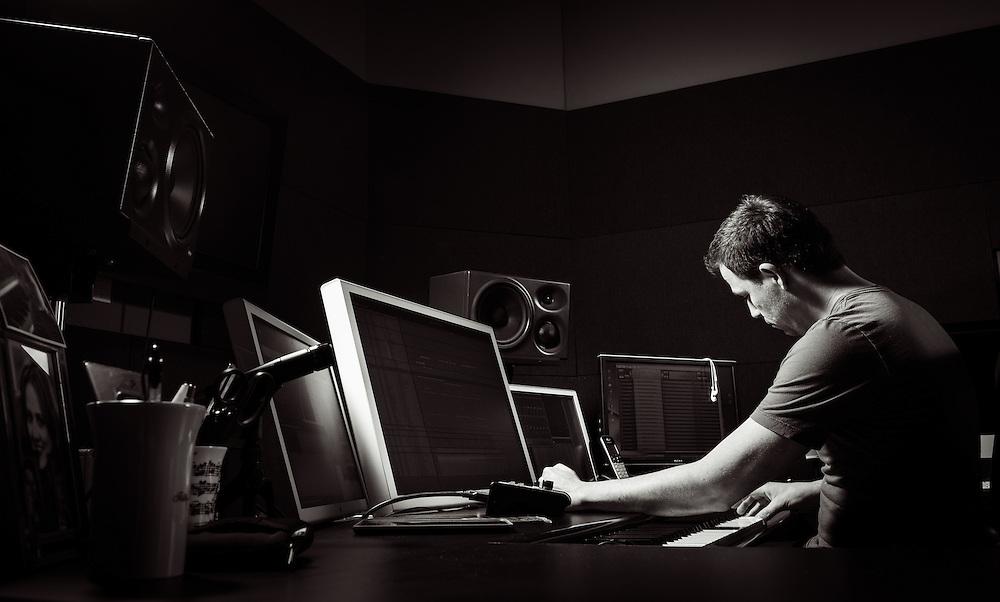 Composer Joey Newman in his Santa Monica studio