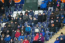 South Stand, second half. <br /> Falkirk 1 v 0 Cowdenbeath, Scottish Championship game played 31/3/2015 at The Falkirk Stadium.