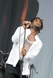 Young Fathers band perform on stage on day 1 of All Points East festival in Victoria Park in London, UK. Picture date: Friday 25 May 2018. Photo credit: Katja Ogrin/ EMPICS Entertainment.