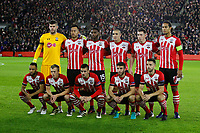 Football - 2016 / 2017 UEFA Europa League - Group K: Southampton vs Inter Milan<br /> <br /> The Southampton line up to face Inter Milan, back row from left to right, Fraser Forster, Maya Yoshida. Cuco Martina, Oriol Romeu, Pierre-Emile Hojbjerg and captain Virgil van Dijk.<br /> Front row from left to right, Nathan Redmond. James Ward-Prowse, Dusan Tadic, Sam McQueen and Jay Rodriguez at St Mary's Stadium Southampton England<br /> <br /> COLORSPORT/SHAUN BOGGUST