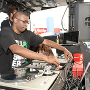 WASHINGTON, DC - August 11th, 2012 - David Heartbreak dj's at the inaugural Trillectro Festival at the Half Street Fairgrounds in Washington, D.C. The festival was a combination of hip-hop and dance acts, bringing together fans of both genres.  (Photo by Kyle Gustafson/For The Washington Post)