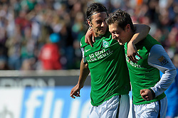 10.04.2010, Weser Stadion, Bremen, GER, 1.FBL, Werder Bremen vs SC Freiburg, im Bild  jubel Mesut Özil / Oezil ( Werder  #11 )  und Claudio Pizarro ( Werder  #24 )   EXPA Pictures © 2010, PhotoCredit: EXPA/ nph/  Kokenge / SPORTIDA PHOTO AGENCY
