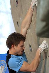 Climber Matej Sova (SLO) at World cup competition in Zlato polje, Kranj, Slovenia, on November 15, 2008.  (Photo by Vid Ponikvar / Sportida)