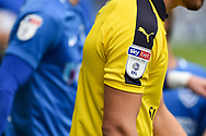 League one sleeve patch EFL SKY BET during the EFL Sky Bet League 1 match between Portsmouth and Oxford United at Fratton Park, Portsmouth, England on 18 August 2018.