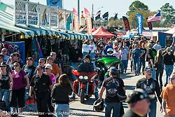 Speedway vendor area during Daytona Bike Week., FL, USA. March 8, 2014.  Photography ©2014 Michael Lichter.