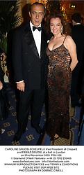 CAROLINE GRUOSI-SCHEUFELE Vice President of Chopard and FAWAZ GRUOSI, at a ball in London on 22nd November 2003.POU 209