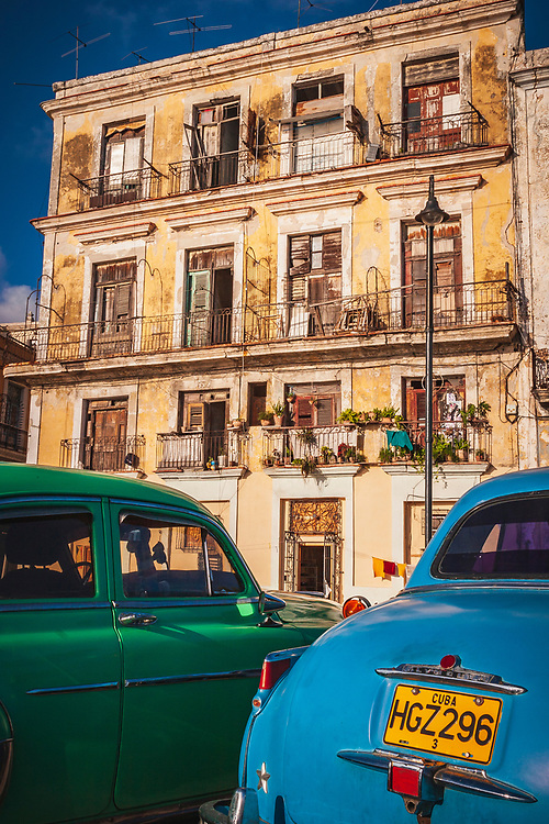 Classic cars on the Malecon, Havana