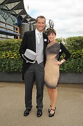 ANDREA CATHERWOOD and her husband at the first day of the 2010 Royal Ascot Racing festival at Ascot Racecourse, Berkshire on 15th June 2010.