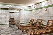 Porchester Spa sauna on the 29th November 2019 in London In the United Kingdom. The Porchester Spa in west London is the capitals oldest Spa.