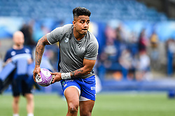 Cardiff Blues' Rey Lee-Lo during the pre match warm up<br /> <br /> Photographer Craig Thomas/Replay Images<br /> <br /> European Rugby Challenge Cup Round Semi final - Cardiff Blues v Pau - Saturday 21st April 2018 - Cardiff Arms Park - Cardiff<br /> <br /> World Copyright © Replay Images . All rights reserved. info@replayimages.co.uk - http://replayimages.co.uk