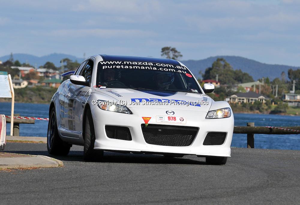 Steve Glenney & Bernie Webb .2008 Mazda RX-8 SP.Prologue.George Town.Targa Tasmania 2009.28th of April 2009.(C) Joel Strickland Photographics.