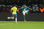 Dani Alves (Brazil) and Marvin Plattenhardt (Germany) during the International Friendly Game football match between Germany and Brazil on march 27, 2018 at Olympic stadium in Berlin, Germany - Photo Laurent Lairys / ProSportsImages / DPPI