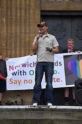 Clive Lewis MP, Labour Norwich South & Shadow Defence Secretary, Norwich Pride 30 July 2016 UK