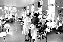 File photo dated 13/05/85 of a ward at Bradford Royal Infirmary, where casualties of the Bradford City stadium fire disaster were being treated. The NHS will celebrate its 70th anniversary on Thursday 5th July 2018.