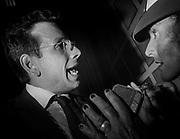 Primo Consiglio Comunale della giunta del comune di Pisa. <br /> Raffaele Latrofa, discute con un Vigile urbano per l' impossibilità a proseguire il primo consiglio comunale dopo le contestazioni contro l'assessore Andrea Buscemi.<br /> 17 luglio  2018 Daniele Stefanini/ oneshot