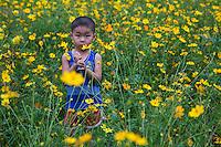Vietnamese Child Flowers