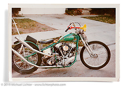 Arlen Ness' original Knucklehead in one of its early forms. San Lorenzo, CA. ©1968 Ness Family Archive Photo