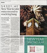 Fireworks over Big Ben, London - December 31st 2008 / The Guardian
