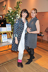 Left to right, GEORGIA COLERIDGE and KAREN DOHERTY at a ladies lunch in aid of Mothers4Children hosted by Carmelbabyandchild at 259 Pavillion Road, London SW1 on 30th June 2011.