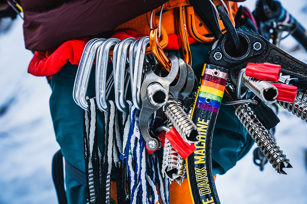 Bedazzled climbing tools, Zion.
