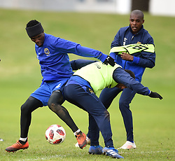 Cape Town-180801-Cape Town's Teko Modise challenged by Riyaad Norodien at training session at Hartleyvale Stadium, ahead of their opening game of the 2018/2019 PSL season against Supersport United at Cape Town Stadium on saturday.Photograph:Phando Jikelo/African News Agency/ANA