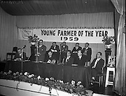 Young Farmer of the Year, P Greaney, Co. Galway. Presented at The Gresham, Sponsored by David Brown Ltd..30/12/1959