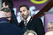 England interim manager Gareth Southgate takes his seat in the stands.  Premier League match, Burnley v Crystal Palace at Turf Moor in Burnley , Lancs on Saturday 5th November 2016.<br /> pic by Chris Stading, Andrew Orchard sports photography.