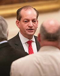 United States Secretary of Labor Alex Acosta in conversation prior to US President Donald J. Trump making remarks highlighting the achievements on Second Chance hiring and workforce development in the East Room of the White House in Washington, DC on Thursday, June 13, 2019. Credit: Ron Sachs / CNP. 13 Jun 2019 Pictured: United States Secretary of Labor Alex Acosta in conversation prior to US President Donald J. Trump making remarks highlighting the achievements on Second Chance hiring and workforce development in the East Room of the White House in Washington, DC on Thursday, June 13, 2019. Credit: Ron Sachs / CNP. Photo credit: Ron Sachs - CNP / MEGA TheMegaAgency.com +1 888 505 6342