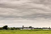 Undulatus asperitas cloud formation over Christchurch Harbour from Hengistbury Head. Dorset, UK.