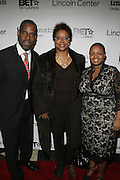 l to r: Greg Gates, Harriett Cole and Moikgansti Kgama at The ImageNation celebration for the 20th Anniversary of ' Do the Right Thing' held Lincoln Center Walter Reade Theater on February 26, 2009 in New York City. ..Founded in 1997 by Moikgantsi Kgama, who shares executive duties with her husband, Event Producer Gregory Gates, ImageNation distinguishes itself by screening works that highlight and empower people from the African Diaspora.