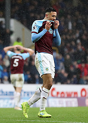 Burnley's Dwight McNeil appears dejected during the Premier League match at Turf Moor, Burnley.