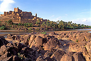 MOROCCO, SAHARA DESERT the Kasbah of Tiffoultoute (fortified citadel) near Ouarzazate south of Marrakech