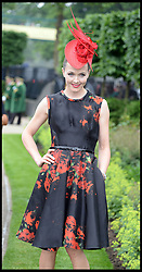 Victoria Pendleton attends Ladies Day at Royal Ascot 2013 Ascot, United Kingdom,<br /> Thursday, 20th June 2013<br /> Picture by Andrew Parsons / i-Images