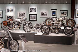 Brian Klock, John Stein, Shinya Kimura, and Cristian Sosa's custom bikes in the Naked Truth exhibition at the Buffalo Chip gallery during the 75th Annual Sturgis Black Hills Motorcycle Rally.  SD, USA.  August 5, 2015.  Photography ©2015 Michael Lichter.