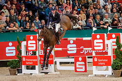 STUEHLMEYER Patrick (GER), Varihoka Du Temple<br /> Leipzig - Partner Pferd 2020<br /> Longines FEI Jumping World Cup™ presented by Sparkasse<br /> Sparkassen Cup - Großer Preis von Leipzig FEI Jumping World Cup™ Wertungsprüfung <br /> Springprüfung mit Stechen, international<br /> Höhe: 1.55 m<br /> 19. Januar 2020<br /> © www.sportfotos-lafrentz.de/Stefan Lafrentz
