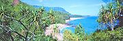 Lumahai Beach, Kauai, Hawaii, Panoramic