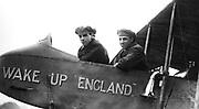 Graham White (left) and RT Gates, British pioneer aviators. Photograph.