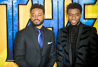 Chadwick Boseman and Ryan Coogler at the Black Panther European Premiere at the Eventim Apollo, Hammersmith, London