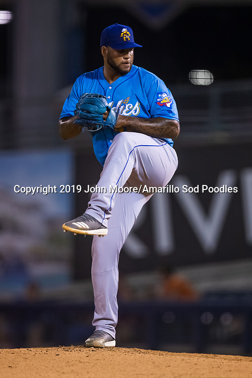 Amarillo Sod Poodles pitcher Jordan Gerrero (40) pitches against the Tulsa Drillers during the Texas League Championship on Saturday, Sept. 14, 2019, at OneOK Field in Tulsa, Oklahoma. [Photo by John Moore/Amarillo Sod Poodles]