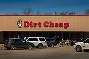 Discount Store, Dirt Cheap, on 28th February 2020 in Ville Platte, Louisiana, United States.